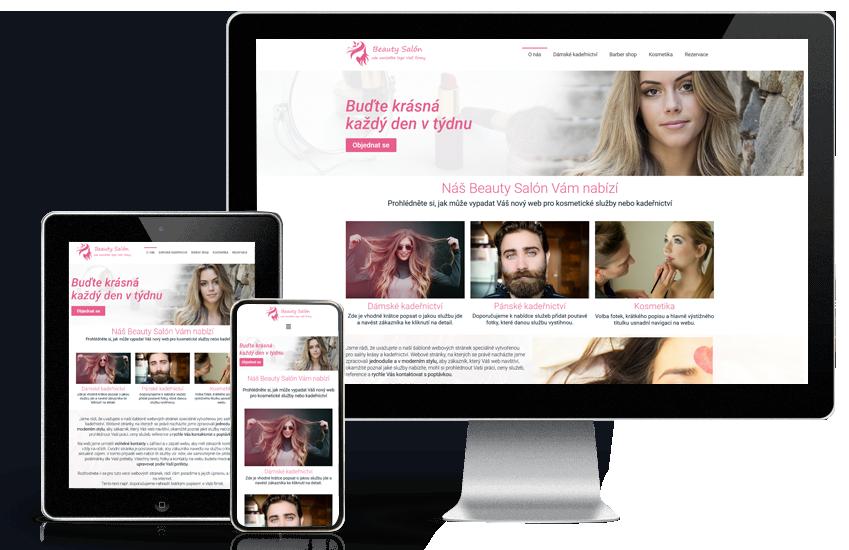 Webové stránky pro kadeřnictví a kosmetické salóny