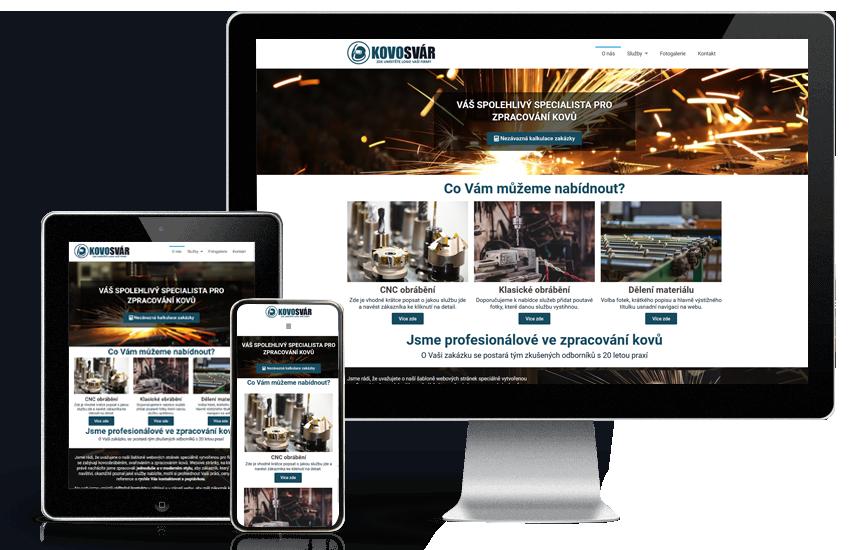 Webové stránky pro průmysl a strojírenství