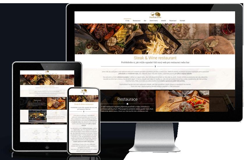 Webové stránky pro restaurace a bary
