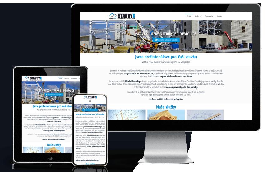 Webové stránky pro stavební firmy